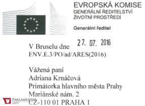Milostný dopis z EU primátorce, nebo proč ta cenzura?